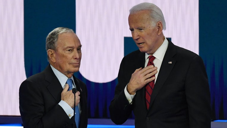 Mike Bloomberg and Joe Biden