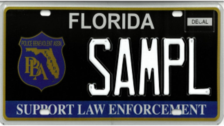 Support Law Enforcement specialty license plate