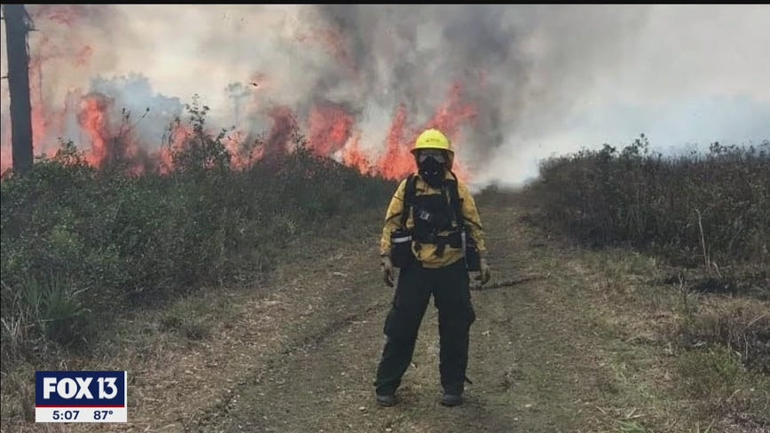 Hillsborough County wildland firefighter joins efforts in California