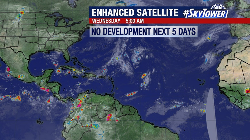 No tropical development expected in Atlantic for five days, NHC says
