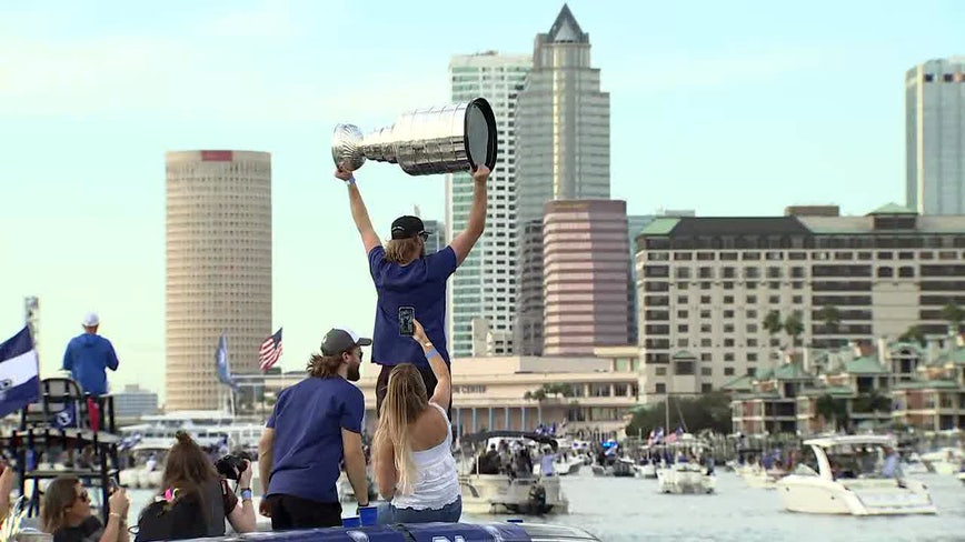 Lightning boat parade: Stanley Cup celebration hits the water