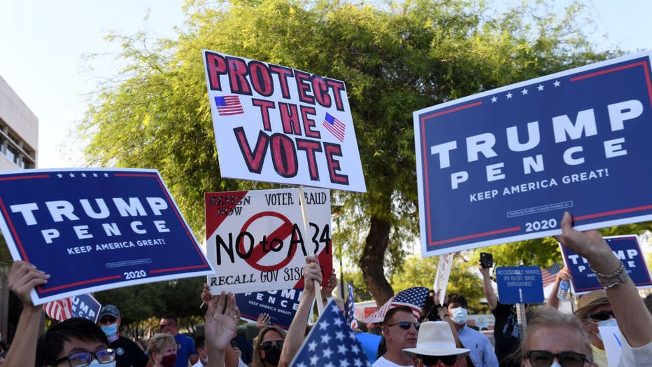 Nevada Republicans Protest Mail-In Voting Bill In Las Vegas