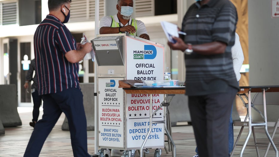 3b39236a-Florida Voters Use Designated Drop Boxes To Submit Ballots