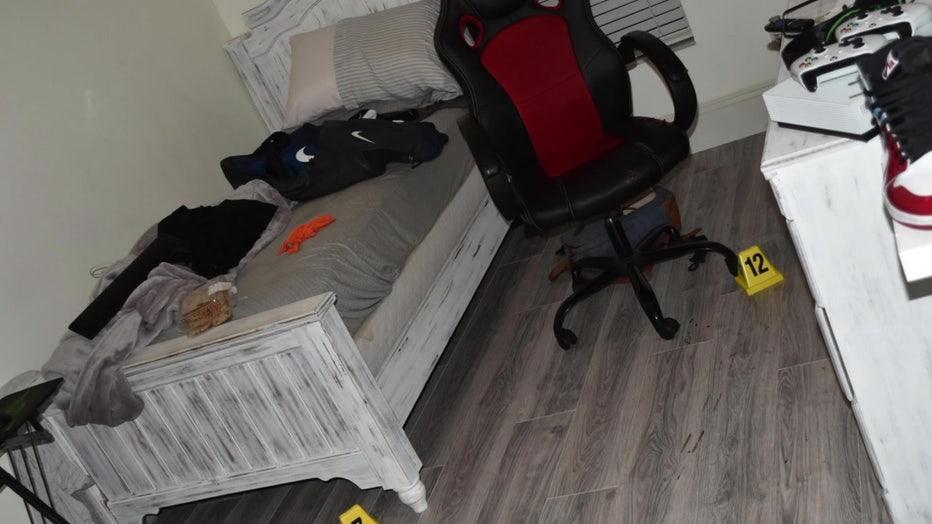Bedroom where Bradley Hulett was shot and killed