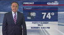 Friday evening weathercast