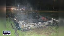 Men set TPD cruiser on fire