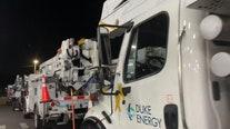 400 Duke Energy utility crews heading to hard-hit Carolinas to restore power after Zeta