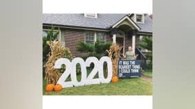 'The scariest thing I could think of': Artist creates '2020' Halloween decoration