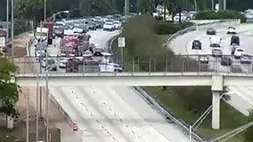 Crash involving boat-hauler closes I-275 lanes in St. Pete