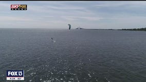 Drone Zone: Fly with kiteboarders along the Sunshine Skyway