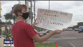 Worried students rally against USF's plan for massive budget cuts