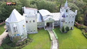 In the heart of a Florida swamp, visitors can explore this whimsical, metal-plated castle