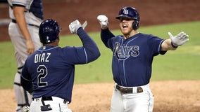 Brosseau's homer off Chapman lifts Rays over Yanks, into ALCS
