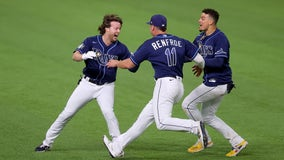 Celebration after game-winning hit left Rays' Phillips sick