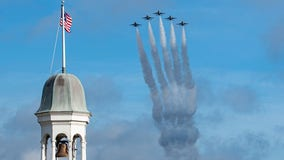 U.S. Air Force Thunderbirds fly over Walt Disney World