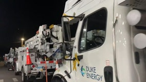 400 Duke Energy utility crews heading to hard-hit Carolinas to restore power after Zeta