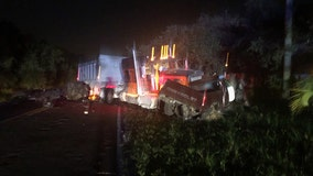 Pickup truck driver traveling in wrong direction dies in Hudson crash involving semi