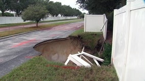 Road closed after deep hole opens near Walmart in New Port Richey
