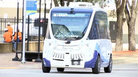 HART's driverless shuttle hits the road in downtown Tampa