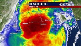 Hurricane Delta weakens slightly ahead of Louisiana landfall