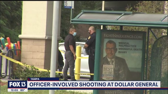 Midday update: Suspect shot in Tampa