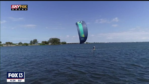 Fly along the Sunshine Skyway with one of the fastest wind-powered sports