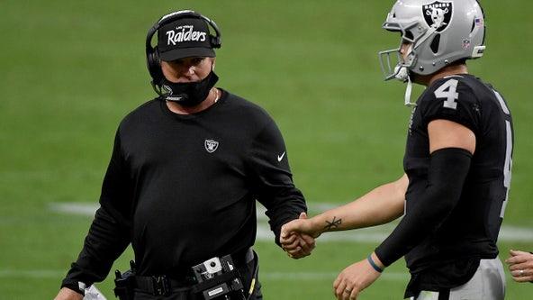 Derek Carr, Coach Gruden lead Raiders into showdown vs Tom Brady's Buccaneers