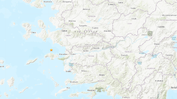 Large quake hits off the coast near Greece and Turkey