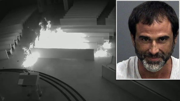 Accused church arsonist identified as jailed shoplifting suspect