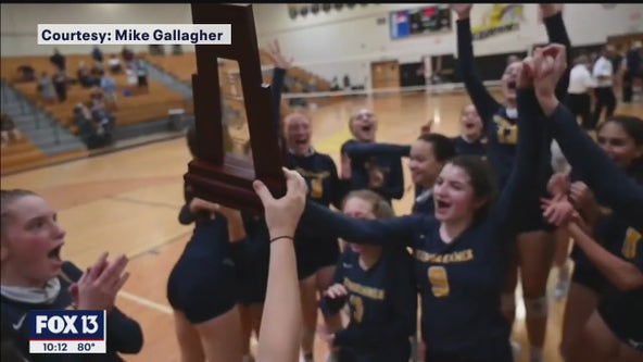 Junior varsity volleyball quad wins district title for quarantined varsity team