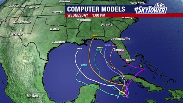 Tropical system may form south of Florida; track uncertain