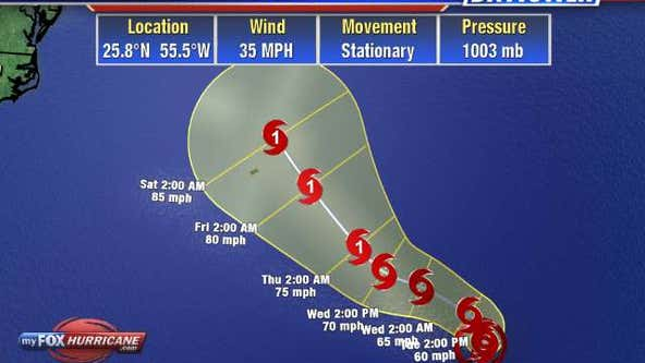 Tropical Depression 27 forms; expected to become Hurricane Epsilon