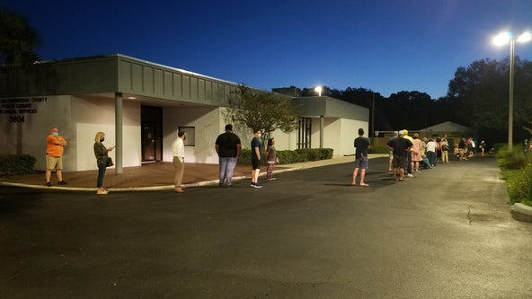2,000 people voted in first hour of early voting in Hillsborough, elections officials say