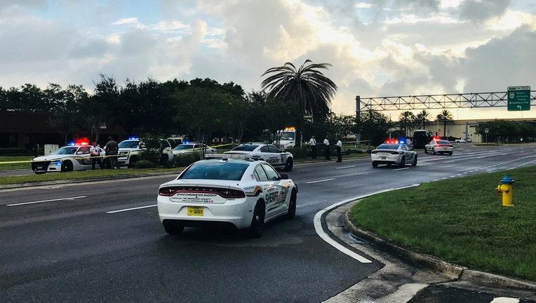 Deputy cars on highway