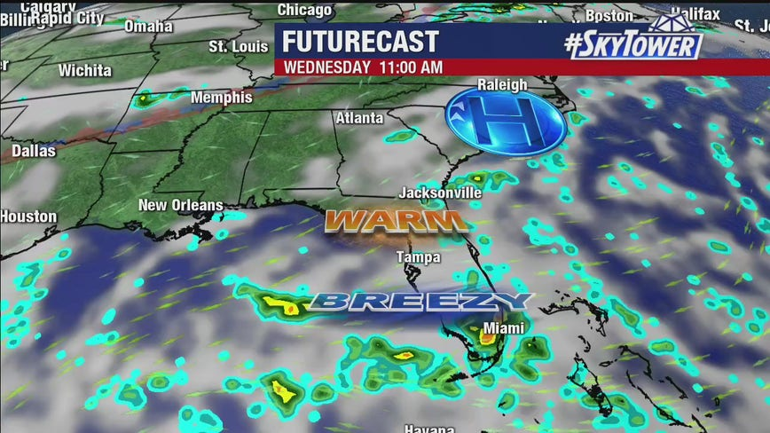 Tuesday afternoon weathercast