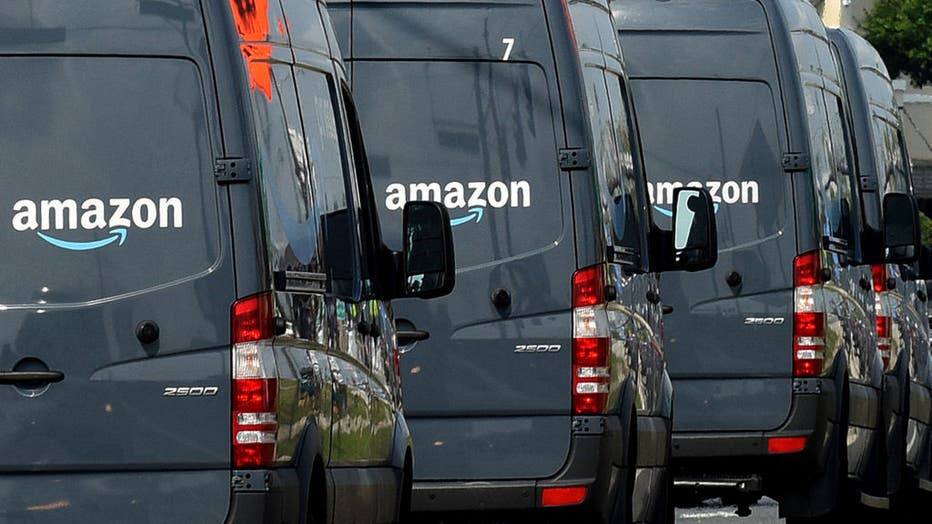 Amazon Delivery Vans in Orlando