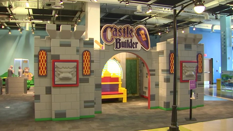 Castle exhibit at Glazer Children's Museum
