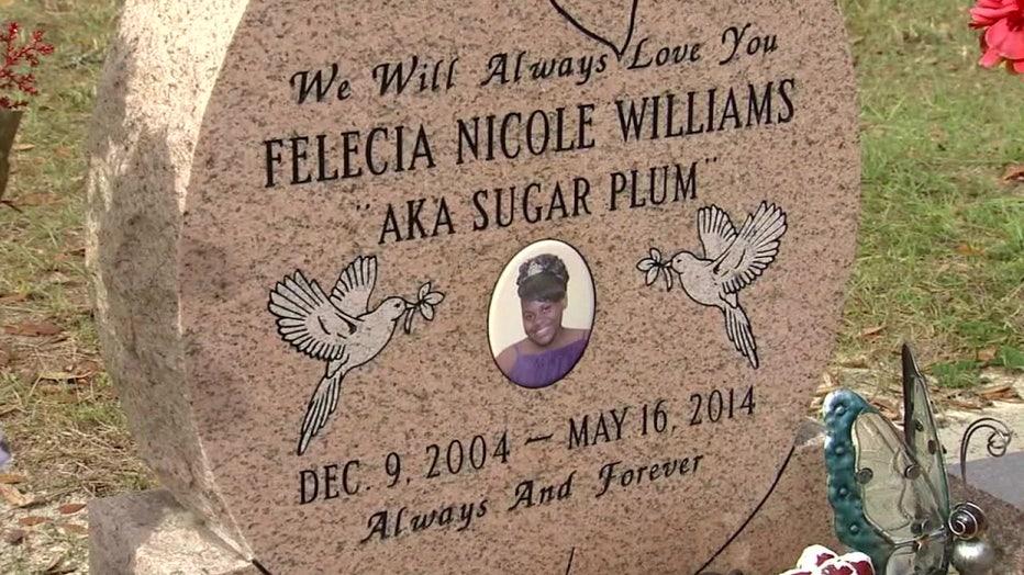 Felecia Williams headstone