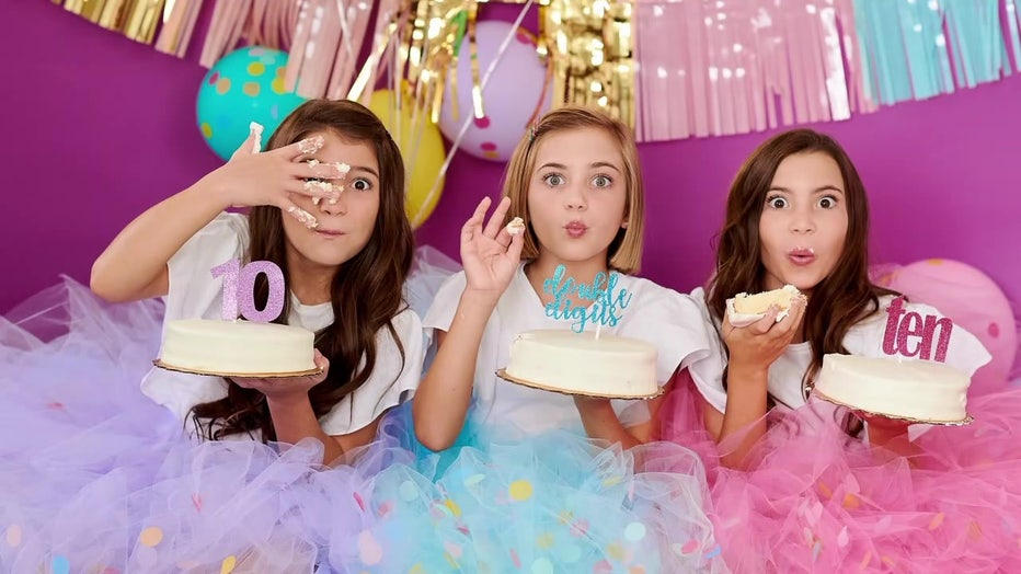 Triplets 10th birthday photo shoot