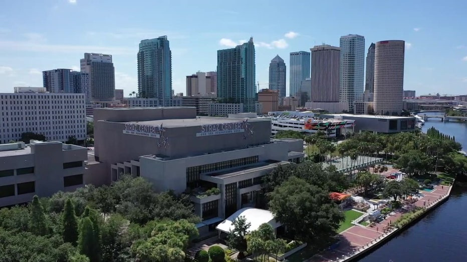 aerial view of downtown Tampa