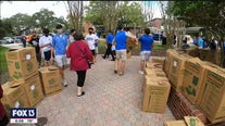 Students help feed families