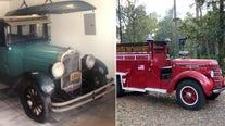 1927 Oakland and 1940 international fire truck