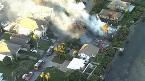 Four homes, multiple vehicles damaged in Pasco County fire