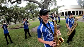St. Petersburg marching band takes show on the road, plays for ALF's during pandemic