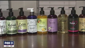 Relieve stress and shop local with massage oils made in Tampa Bay