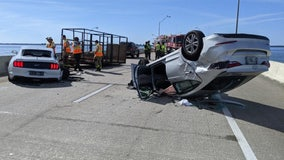 Distracted driving led to multi-car crash involving trooper on Gandy Bridge, officials say