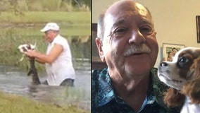 Man who wrestled alligator to save puppy talks to FOX 35