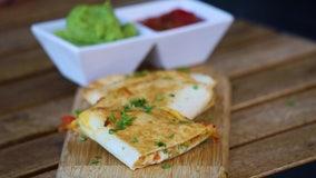 Recipe: Cheesy crab quesadillas