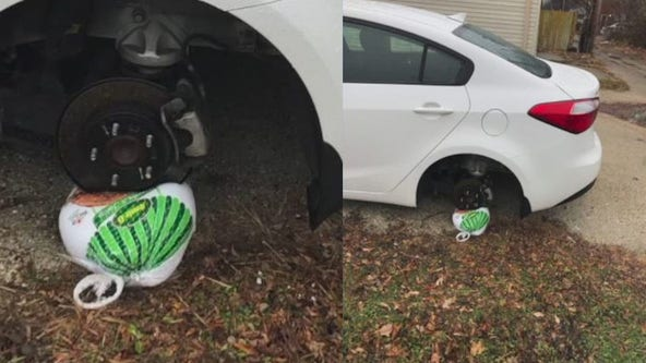 Milwaukee man's tire stolen before Thanksgiving, replaced with turkey