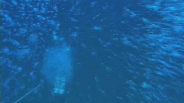 Scientists continue to explore the 'blue holes'